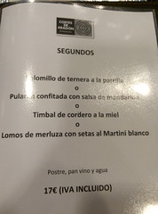 Zaragoza | Palacio la Aljafera | Carta (moverelbigote) Tags: restaurant la comida restaurante zaragoza eat arabe castillo cafetera comidas palacio musulman aljafera palaciodelaalfajera moverelbigote palaciolaalfajera