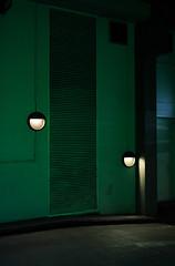 IMG_7476 (Kathi Huidobro) Tags: lighting nightphotography urban green london architecture nightshots carpark urbanlandscape londonstreets ncp urbanstreets urbanscene exteriorlighting bulkheads architecturallighting undergroundcarpark