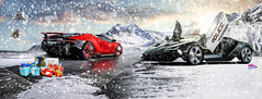 The Hot and the Pursuit Centenario Happy New Year Everyone (Nike_747) Tags: naksphotographydsign the hot pursuit centenario lamborghini roadster v12 v 12 coupe hypercar supercar sportscar sport class super hyper car exotic rare luxury color auto limited edition nfslamborghini lamborghinipolicecar cop police livery snow mountains ice sky clouds sun flare reflection christmass xmass presents tree helicopter heat rise happynewyear2017