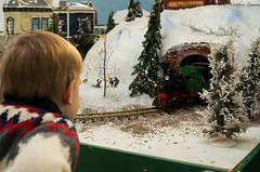 ANTICIPATION (matttimmons1) Tags: modeltrain christmas anticipation excitement wonder train child snow scene tiny miniture
