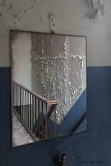 School's Out (Marian Smeets) Tags: schoolsout school urbex urbexexploring abandoned decay vervallen verlaten mariansmeets nikond750 2016 belgium belgie mirror spiegel trap stairs