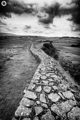 Hadrian's wall at Cuddy's Crags (Silent Eagle  Photography) Tags: sep silent eagle photography silenteaglephotography hadrianswallatcuddyscrags bw monochrome northeast northumberland rocks landscape clouds leefilters outdoor iso50 lee filters