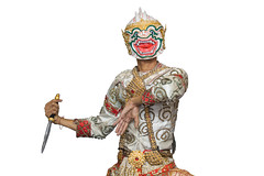 Hanuman mask in Thai classical style of Ramayana story (anekphoto) Tags: thailand decoration classical white craft traval culture bangkok monkey exquisite buddhism asia khon emerald decorate bellet mask art antique artistic army ancient beautiful background asian ballet colorful costume dance draw east gold hanuman hindu india isolated ramayana religion show thai tourism traditional travel indian chiangmai phuket ayutthaya man