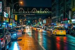 East Broadway at night (Arutemu) Tags: urban usa us unitedstates asian asia america american a7rii ilce mirrorless sony night nighttime nightscape nyc ny newyork newyorkcity nightshot nightview nightstreet nightfall nuevayork manhattan chinatown city cityscape ciudad citylights lights rain view ville metropolis chinese town street scenic アメリカ 米国 美国 ニューヨーク ニューヨーク市 紐育 マンハッタン 中華街 街 街道 町 都会 都市 都市景観 都市の景観 風景 光景 見晴らし 夜 夜景 夜光 光 雨