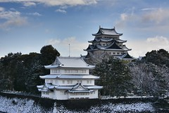 Nagoya Castle -Japan. (marcelo.nakazaki) Tags: snow sky nuvens céu pedra tree árvore árvores história history postcard neve castle castelo aoarlivre arquitetura nagoya japão japan japon aichiken ásia
