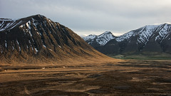 in some places our planet went for abstraction (lunaryuna) Tags: iceland northwesticeland westfjords landscape mountainrange striations landscapeabstract natureabstract snowcappedmountains valley sunlight colours beauty nature spring season seasonalchange lunaryuna