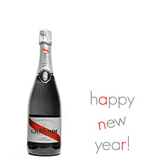 cheers! (brescia, italy) (bloodybee) Tags: 365project newyear eve 31 december 2016 2017 celebration bottle champagne mumm wine alcohol drink spirit glass stilllife square text selectivecolor bw red white