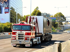 photo by secret squirrel (secret squirrel6) Tags: secretsquirrel6truckphotos craigjohnsontruckphotos southyarra melbourne 2011 kenworth coe australiantruck kw kenworthtruck cabover monash redandwhite trucking bigrig flickr photo