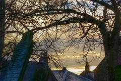FailingLightHDR (Tony Tooth) Tags: nikon d7100 tamron 2470mm evening sundown failinglight churchyard headstone gravestone rooftops sky cloud leek staffs staffordshire hdr