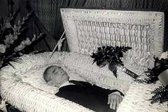 In Repose (Midnight Believer) Tags: death coffin casket funeral wake corpse lostphoto retro 1950s unknown postmortem dead