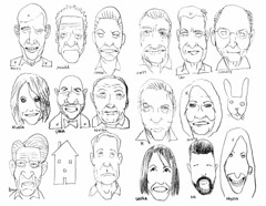 Pencil faces (Don Moyer) Tags: face faces pencil drawing grid moleskine notebook moyer donmoyer