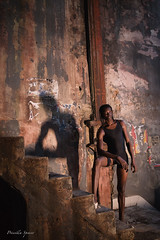 Looming Shadow (priscellie) Tags: cuba cubacollection dancer dancers dancing afrocuban afrocaribbean caribbean athlete athletic passion energy art fineart political history color performer performance performing shadow dark havana lahabana centrohabana