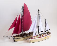Amberle & Eretria (FelipeAvelar) Tags: nautical yacht lego sail model rigging technic