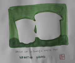 Negative shapes (chando*) Tags: sknfoundations croquis sketch watercolor aquarelle