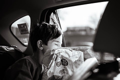 138/365 - Carsick (kate.millerwilson) Tags: carsick child window roadtrip monochrome nikond750 sigmaart35mmf14