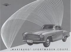 Wartburg Sport 313/1 (1959) (andreboeni) Tags: classic car automobile cars automobiles voitures autos automobili classique voiture retro auto oldtimer klassik classico classica publicity advert advertisement wartburg 311 312 13 sports sport coupe 3131 eisenach