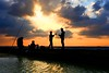 Fishing at sunset - Tel-Aviv beach (Lior. L) Tags: fishingatsunsettelavivbeach fishing sunset telaviv beach fishingatsunset telavivbeach travel travelinisrael israel silhouettes clouds cloudysunset nature