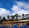 Vuelvo a Lanzarote - I return to Lanzarote (nuska2008) Tags: nuska2008 lanzarote nanebotas playablanca sombrillas nubes clouds hotel palmeras princesayaiza isascanarias isla appleipad terrazas gente vacaciones travel flickr cúpula piedras