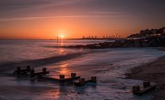 Felixstone sunset (Nathan J Hammonds) Tags: sunset slow exposure long nd 10stop nikon beach sea sun winter d750 waves suffolk