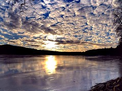 2017_0114Sunny-But-Cold-Pano0005 (maineman152 (Lou)) Tags: panorama west pond westpond lake frozen frozenover frozenlake ice icecovered icedoverpond icedover winter winterweather coldweather coldwinterweather cloudysky mackerelsky clouds sky wintersky nature naturephoto naturephotography landscape landscapephoto landscapephotography january maine