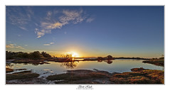 4 Exposure Blend (Brett Huch Photography) Tags: australia aussie ayr alvabeach seascape seascapes sea sky sunset reflection reflections river creek water outdoor queensland qld sun