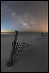 The Twilight Zone (richpope) Tags: astrophotography astro milkyway islandbeachstatepark newjersey darksky nightsky jerseyshore nationalgeographic stars beach twilight islandbeach ocean fence dune