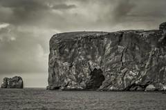 Dyrhólaey (Camera_Shy.) Tags: dyrhólaey sea stack arch water iceland mono