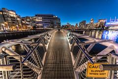 Bridge to nowhere (zxorg) Tags: night nightlights nightphoto cityatnight citylights cityskyline vancouverbc olympic village