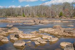 Landsford Canal Rocks (treydavisonline) Tags: nikon d7100 35mm water river rocks flowing trees sky camera 3seconds long exposure
