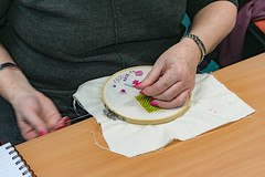 DSC_0722 (surreyadultlearning) Tags: embroidery sewing adulteducation surrey camberley art craft tutor uk painting calligraphy photography