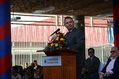 Ambassador Heidt represented the U.S. Embassy at a ceremony to celebrate the opening of Neeson Cripps Academy, a new education facility with a focus on STEM education and run by the Cambodian Children's Fund (CCF). (USEmbassyPhnomPenh) Tags: impoverished cambodian children high quality education opportunities learning spaces digital technologies teacher training stem science technology construction neeson cripps academy building