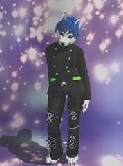 Clean cut (Gabzox) Tags: furry fashion ff secondlife sl husky blue male formal semiformal coat suit