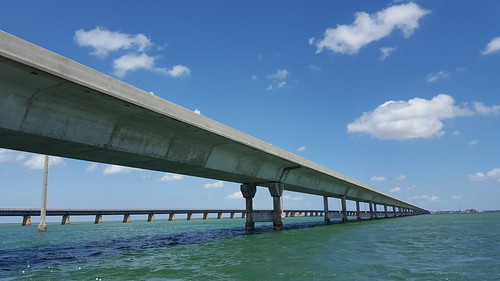 Going under the 7 Mile Bridge