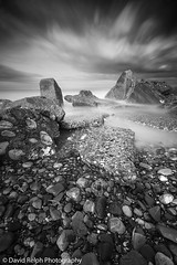 On The Rocks (David Relph) Tags: longexposure sea beach clouds canon coast rocks yorkshire wideangle northeast northyorkshire eastcoast longshutterspeed weldingglass tamron1024mm davidrelph davidrelphphotography