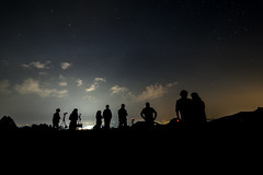 Viterbo by night (paparano) Tags: sky silhouette night nikon agosto luci viterbo lazio fotografi stelle profilo samyang monticimini