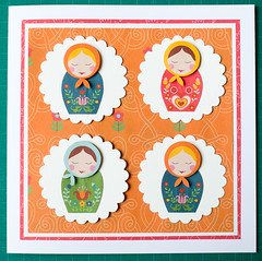 Babushka Dolls Card (crafty Kath) Tags: dolls handmade folk card babushka craftseller
