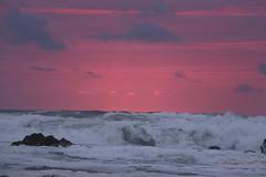 A demain .... (leblondin) Tags: pink sunset sky rose prdosol ciel puestadesol nuage bidart couchdesoleil