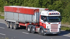 DX55 BWZ (panmanstan) Tags: truck wagon motorway m18 yorkshire transport lorry commercial vehicle freight scania bulk langham haulage hgv r420
