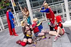 Harleys Interrupted (zemekiss) Tags: dc cosplay superman superhero supergirl harleyquinn animerevolution anirevo