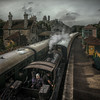 just passing through (stocks photography.) Tags: england station train canon photography photographer stock steam dorset corfe steamtrain corfecastle stocksphotography michaelmarsh canon5dsr