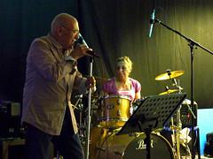 Greg & Sally - JM2 - LGBT Wolves charity gig - 20150801_by Jane Davies_P1010079_enh (Sally Payne) Tags: drums sally bluesband jm2