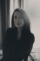 Andra (Jason Arber) Tags: light blackandwhite female model bedroom naturallight toned andra hotomega