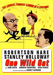 One Wild Oat (1951/Eros Films, Ltd.) dvd cover art (KlaatuCarpenter) Tags: audreyhepburn movieposter dvdcover