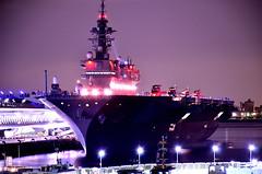 DSC_4557_001 (NAVY_ICHIHO) Tags: nightphotography japan ship nightshot outdoor illumination nightview yokohama 横浜 fleetreview nightimage jmsdf 海上自衛隊 観艦式 護衛艦 電灯艦飾 いずも ddh183 jsizumo 護衛艦「いずも」