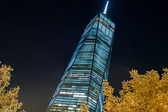One World Trade (nickpfoto) Tags: nyc newyorkcity night skyscraper manhattan worldtradecenter newyorkatnight