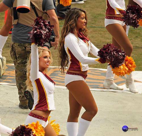 Redskinette Cheerleaders Charo and Heather.