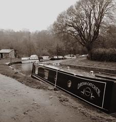 A bracing walk along the Mon & Brec canal, Wales. (jamssy) Tags: autumn blackandwhite wales boats canal noiretblanc cymru narrowboat houseboats towpath powys barges paysdegalles llangattock breconbeaconsnationalpark monmouthshirebrecon visitwales monbrec