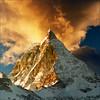 Golden peak (Katarina 2353) Tags: travel winter sunset film landscape switzerland swiss famous peak zermatt matterhorn montagna katarinastefanovic katarina2353