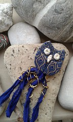 Polymer clay owl (katerina66) Tags: handmade brooch jewellery polymerclay clay silkscreen owl polymer silksari