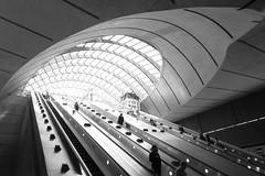 Canary Wharf Station 1 (silverr0se) Tags: london station wharf canary